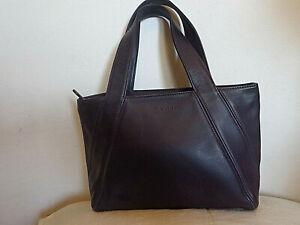 Small Coach Purple/Plum Gloss Leather Harlequin Tote/Handbag #4187
