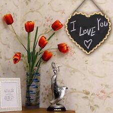 Mini Heart Shape Hanging Chalk Board Blackboard Memo Home Wedding Gift Notes