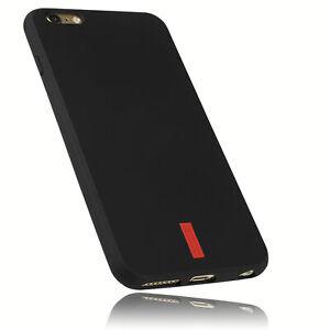mumbi Hülle f. iPhone 6 Plus / iPhone 6s Plus Schutzhülle SILIKON Tasche Schwarz