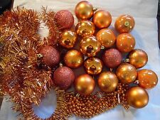Orange Variety of Shatter Resistant Christmas Halloween Fall Ornament Decoration
