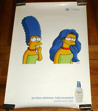 THE SIMPSONS MARGE SIMPSON DOVE SHAMPOO vinyl SUBWAY POSTER ULTRA RARE