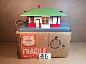 American Flyer # 755 Postwar Mystic Talking Station Record& Original Box