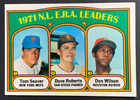1972 TOPPS BASEBALL # 91 NL ERA LEADERS TOM SEAVER 🔥🔥🔥