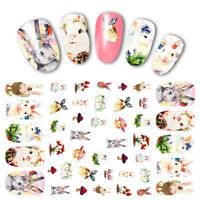 3D Nail Art Transfer Stickers Animal Strip Lace Adhesive Decals Decoration Tips