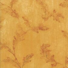 Golden Yellow With Faded Red Scroll Wallpaper 41775110