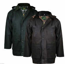 MENS PADDED WAX HEAVY WEATHER HUNTING FISHING WALKING JACKET S M L XL 2XL 3XL 4