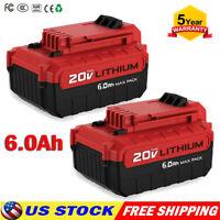 PCC685L 6.0Ah MAX 20V Battery For PORTER CABLE PCC680L PCC682L 20 VOLT Lithium