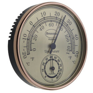 GILT DIAL THERMOMETER AND HYGROMETER - 30/407/3