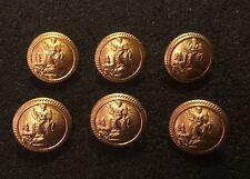 6 X 24MM Dorado Oro Metal Romano César Diosa Figural Birmingham Botones Ltd