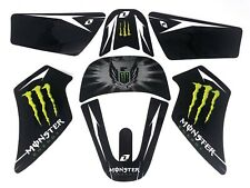 Yamaha PW50 all years GRAPHICS SET. uk stock. MONSTER BLACK GREEN