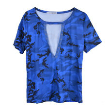 Lady Girl Long Sleeve Lace Up Camouflage Shirt Casual Blouse Tops Loose T Shirt