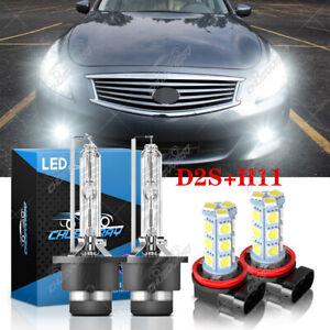 Para For Infiniti G37 2008-2013 HID / LED faro alto / bajo+Kit de luz antiniebla