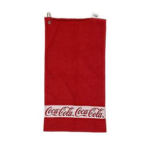 """Vtg Hilasal Coca Cola Towel Coke Dye Sub 15x28.5"""""""