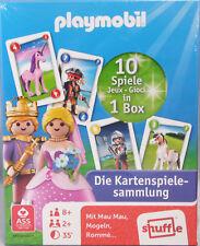 Playmobil Spielkarten Kartenspiele-Sammlung 10 Spiele 110 Karten 1 Poster NEU