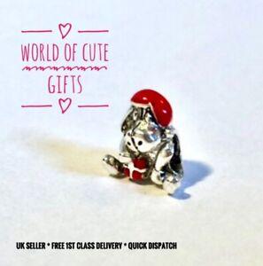 🖤🎀 EEYORE Charm European Disney Winnie The Pooh Silver Tone *Gift Wrapped*