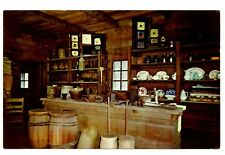 Second Berry Lincoln Store Postcard New Salem State Park Illinois Clocks Dishes