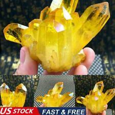 1Pc Rare Natural Yellow Crystal Quartz Citrine Cluster Specimen Mineral G5G1