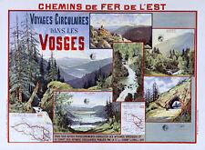 Affiche chemin de fer Est - Vosges