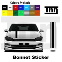 Bonnet Stripe Sticker Vinyl Decal For Volkswagen VW Polo Golf Lupo R GTI TSI