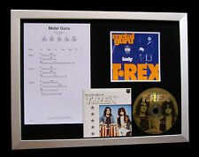 T REX+MARC BOLAN Metal Guru LTD TOP QUALITY CD FRAMED DISPLAY+FAST GLOBAL SHIP