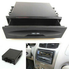 Auto Car Single Din Dash Radio Installation Pocket Kit Storage Box Black Plastic
