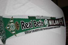 Bufanda Futbol  DEL CENTENARIO DEL REAL BETIS Y AC MILAN  VINTAGE SCARF