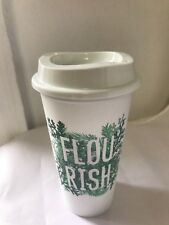 Starbucks Reusable Coffee Cup flourish Tumbler Plastic Limited Edition 16 oz