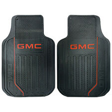 2PC GMC ELITE LOGO FRONT BLACK RUBBER FLOOR MATS SET FOR TRUCKS SUVS MADE IN USA