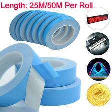 Double sided Thermal Adhesive Tape for LED CPU GPU Heatsink Insulation 0.2mmX25M