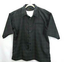 Karl Kani Gold Mens Button Front Short Sleeve Shirt XL Black