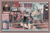 PainterTitan Tizian  Drops Brush King Picks It Up 1903 Trade Ad Card