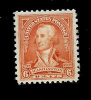 US 1932 Sc# 711 6 c Washington Bicentennial Mint NH Vivid Color - Centered