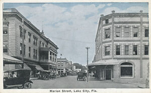 Lake City FL * Marion Street ca. 1920 * Columbia Co.  Old Cars