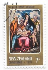 New Zealand Christmas 1978 7c Cents The Holy Family El Greco Used Stamp