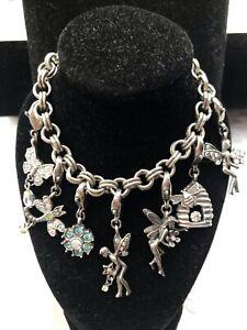 Kirks Folly UniQue ReMovable Whimsical Fairy 7 CHARM Crystal Bracelet Pretty!