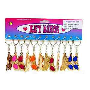 12 Sun Glasses Collectible Keyring Novelty Key Chain Bag Charm Pendant Bling Kid