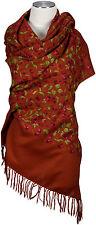 Kashmir Pashmina Schal, 100% Wolle wool handbestickt stole wool écharpe foulard