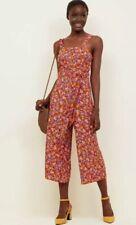 New Look - Orange Floral Button Front Culotte Jumpsuit - Size 6 - BNWT