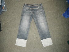 "Next Shorts Size 6 Leg 21"" Faded Dark Blue Ladies Jeans"