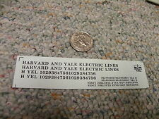 Herald King decals HO Harvard and Yale Electric Lines black   ZZ30