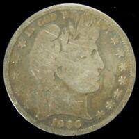 1906-O Barber Half Dollar , GOOD , 90% Silver US Coin