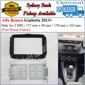 Fascia facia Fits Alfa Romeo AlfaRomeo Giulietta 2013+ Double Two 2DIN Dash Kit*