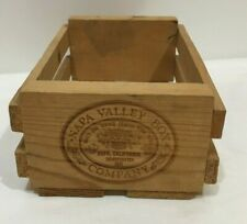 Napa Valley Box Company 12 Cassette Tape Storage Wood Rack Case Crate Wooden