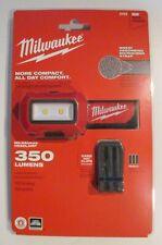 Milwaukee 2103 LED 350 Lumens Headlamp with Hard Hat Clips BRAND NEW SEALED