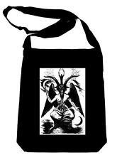 Goat of Mendes Baphomet By Eliphas Levi on Black Sling Bag Occult Book Bag
