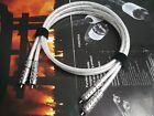 1Pair Oyaide Pure Silver 5N RCA Audio Cable Rhodium occ plug IT091