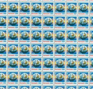 #2277 E Earth 25 cent Domestic Postage Sheet of 100 MNH OG