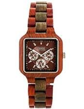 Tense B7305RG Men's Square Analog Wood Watches