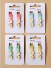 Ladies Childrens Girls Kids Pair of 3cm Colour White Daisy Hair Grip Clip Slide