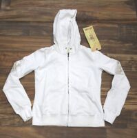 Da-Nang Surplus Women's Sweater Embroidered Hooded WHITE FTG10381463 X-SMALL XS